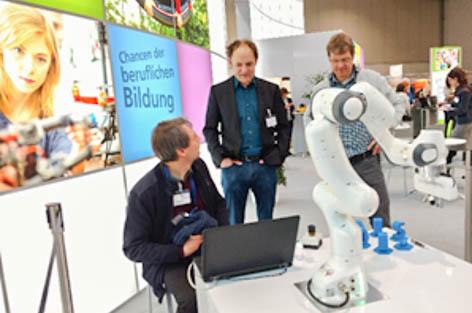 kollaborierender Roboter Didacta 2018 BBS Neustadt