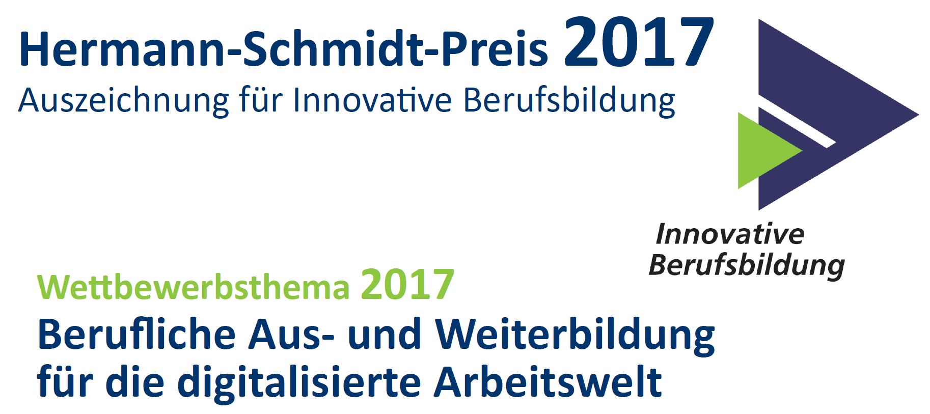 Preis für innovative Berufsbildung 2017