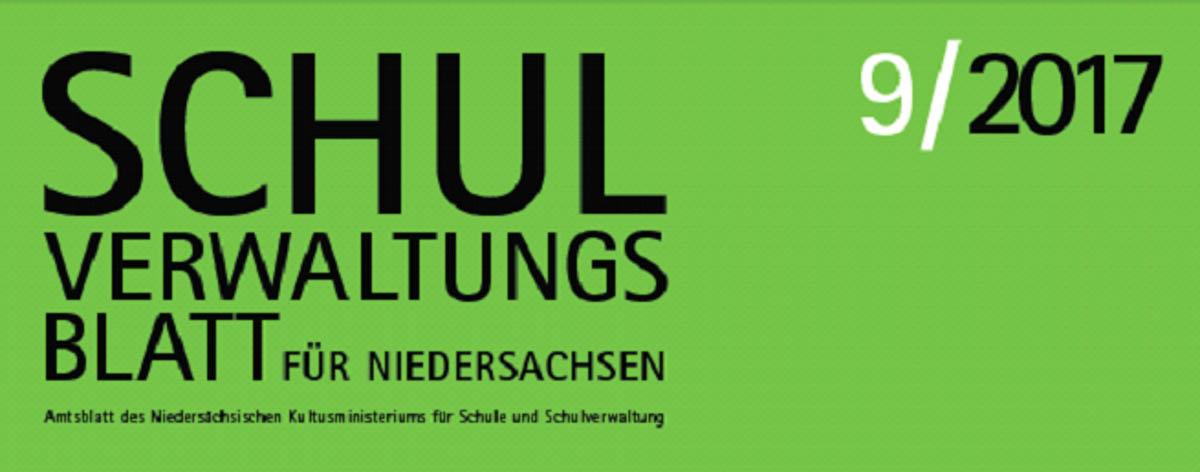 Logo Schulverwaltungsblatt Niedersachsen 9/17
