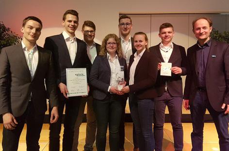 Xplore-Beteiligte der BBS 2 Wolfsburg- 1. Platz im Wettbewerb