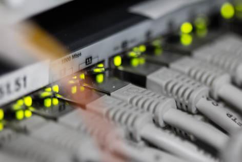 Netzwerkrouter Stecker Leuchtdioden