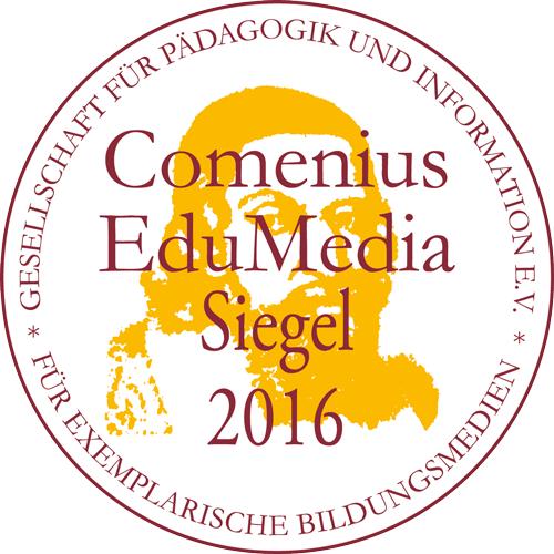 Comenius EduMedia Siegel 2016 für