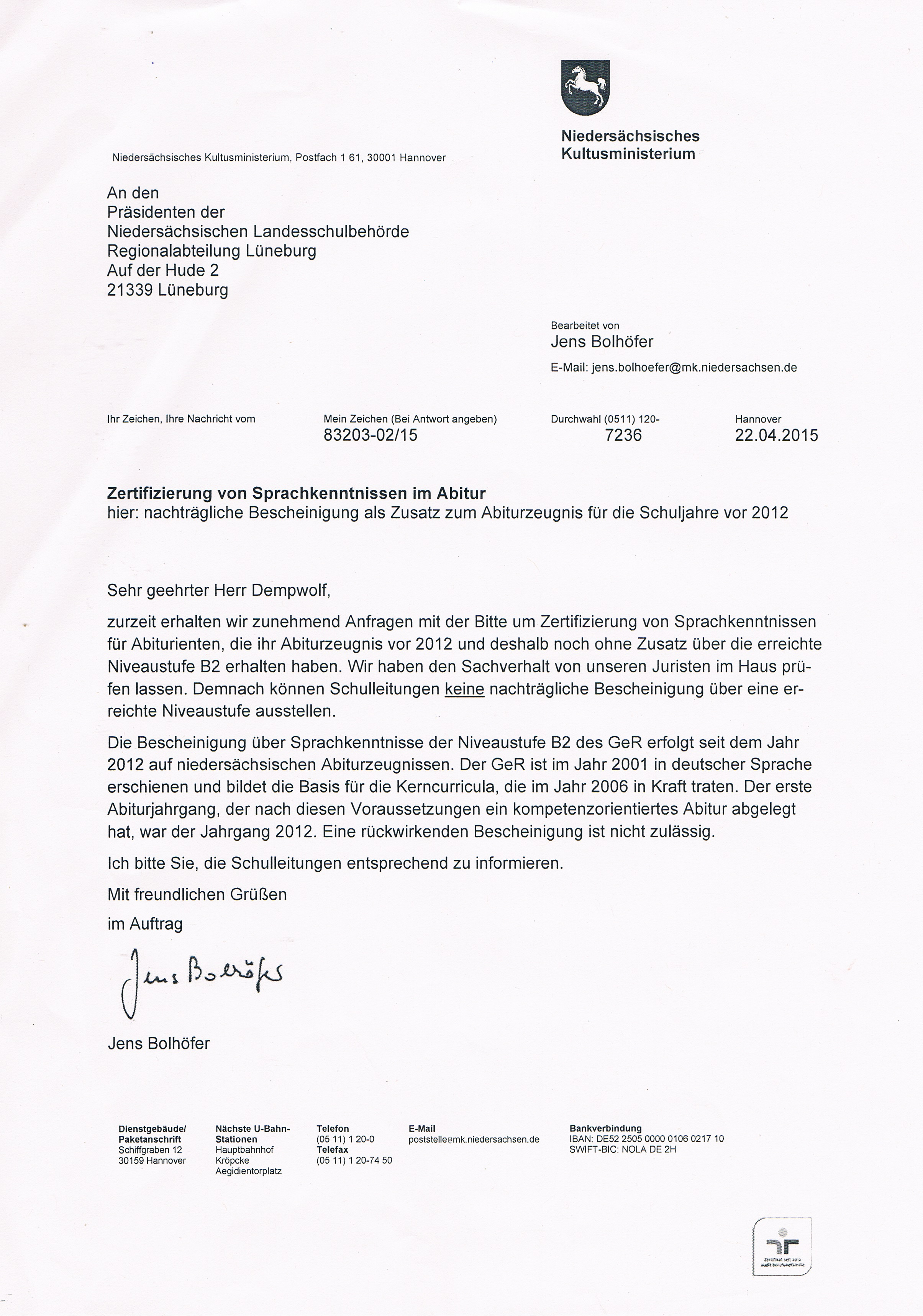 Niedersächsischer Bildungsserver: Link- und Literaturliste für ...