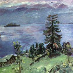Lovis Corinth: Walchensee-Panorama (Ausschnitt)