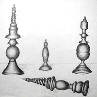 Fantasiefiguren (Bleistiftzeichnung, Schülerarbeit)